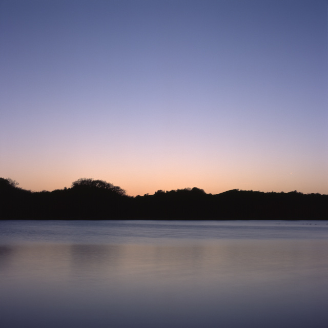 Lake after sunset long exposure